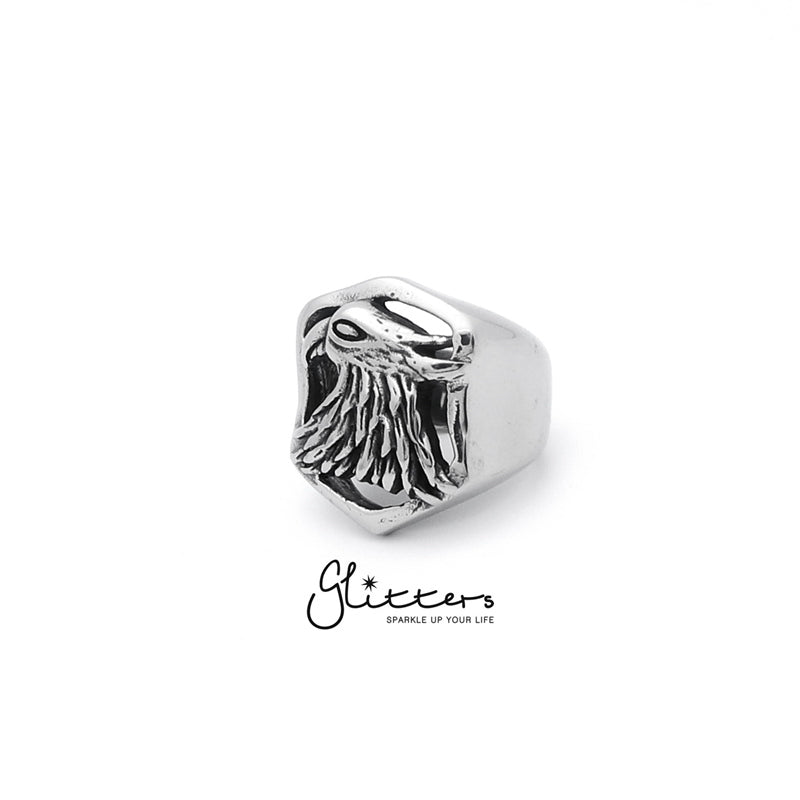 Stainless Steel Eagle Cast Ring-Glitters-New Zealand