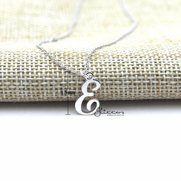 Personalized Sterling Silver Alphabet Necklace - Font 5-Glitters-New Zealand