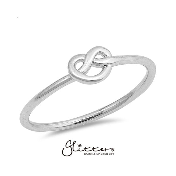 Sterling Silver Love Knot Ring-Glitters