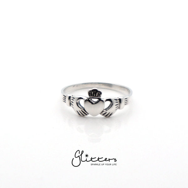 Sterling Silver Claddagh Women's Rings-Glitters-New Zealand