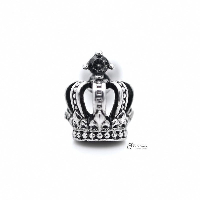 3D Crown with C.Z Tragus Cartilage Earring Stud-Tragus Barbell-Glitters
