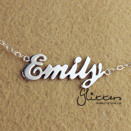 Personalized Sterling Silver Name Necklace-Script 5