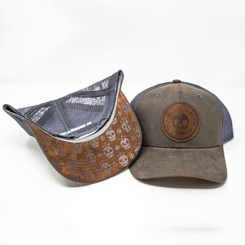 Grey Full Circle Trucker Hat