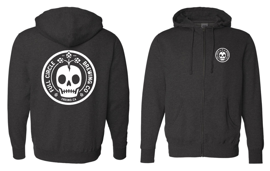Full Circle Brewing Co - Zip Up Sweater with Hoodie