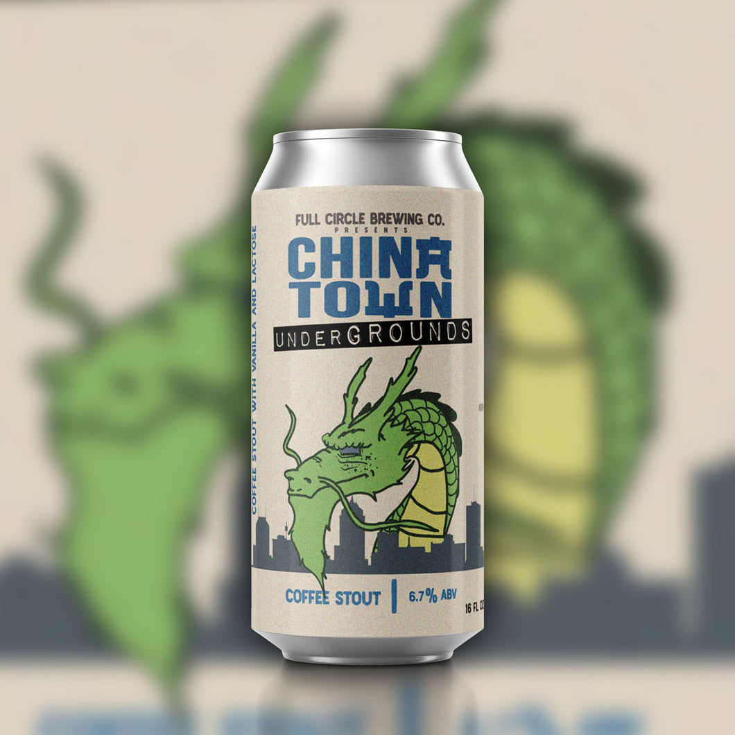 Chinatown Undergrounds - Coffee Stout  6.7% ABV - 4 Pack 16 oz Cans
