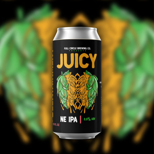 Juicy - NE IPA 6.6% ABV  4 Pack 16 oz Cans