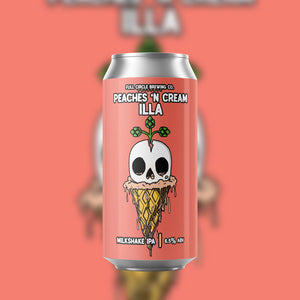 Peaches 'n Cream Illa Vanilla - Milkshake IPA 6.5% ABV - 4 Pack 16 oz Cans