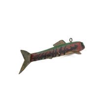 vintage wooden fish decoy