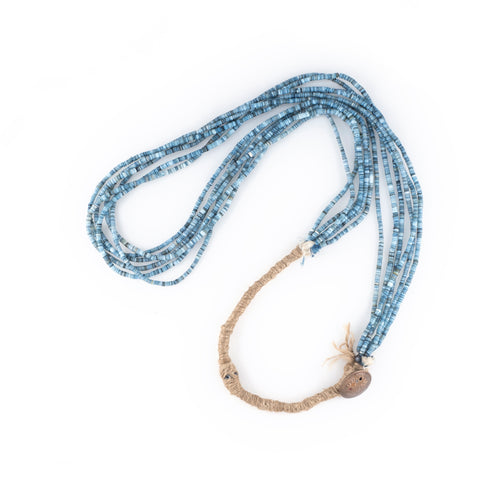 NORTHWORKS Indigo Dyed Shell Beads Necklace