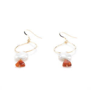 14k Gold filled Stone Earrings