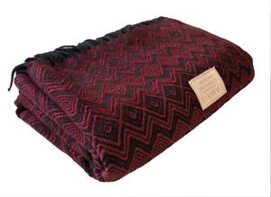Burgundy & Black Blanket