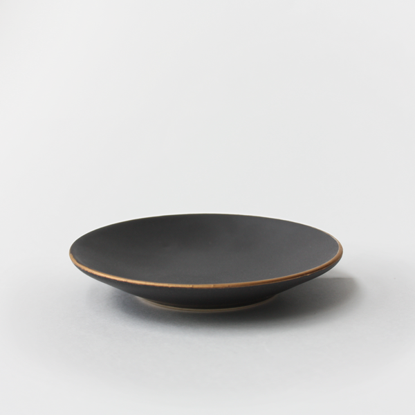 Black Gold Rim Ceramic Dish