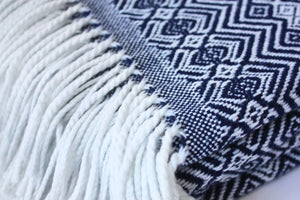 Navy & White Blanket