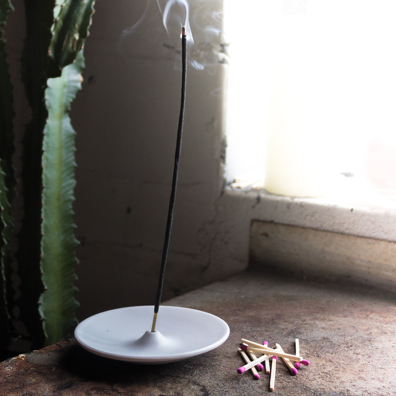 White Ceramic Incense Holder