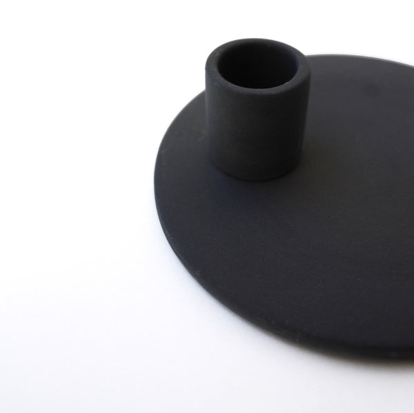 Black Porcelain Candle Holder