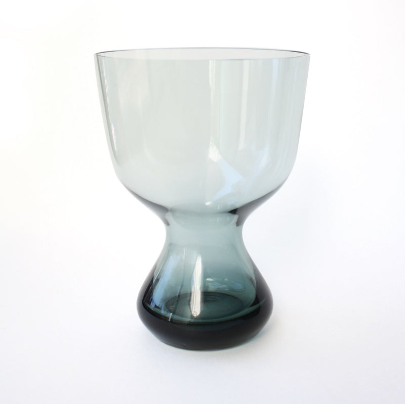 Vintage Grey Glass Vase
