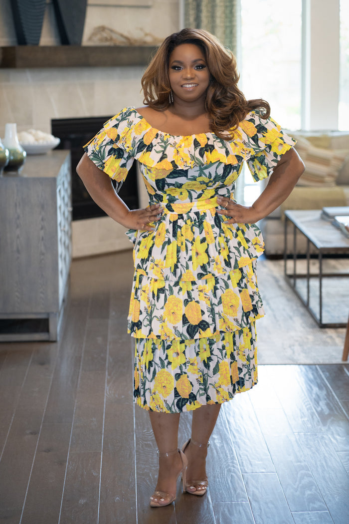 Summerella Tiered Midi