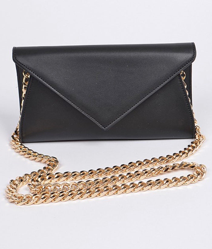 Ameila PU leather Shoulder Chain strapped clutch