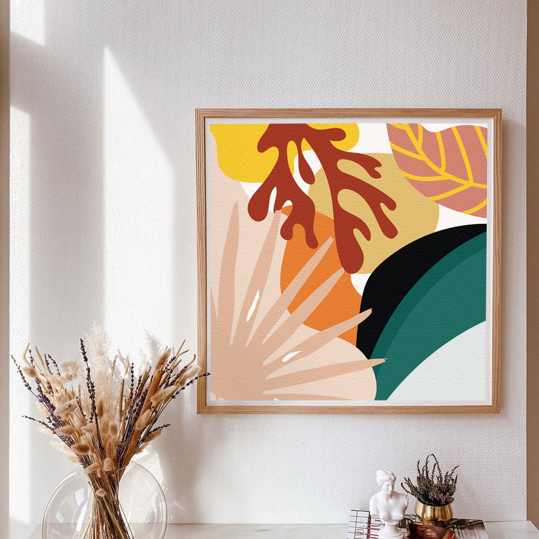 Abstract Leaf Medley Print