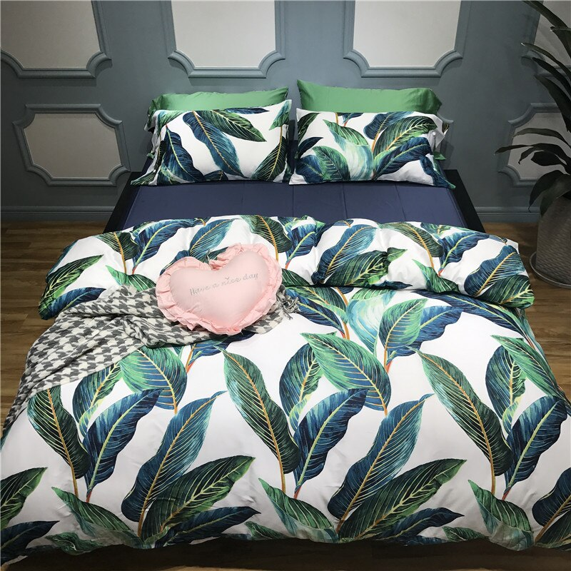 Tropical Plants Premium Egyptian Cotton Bedding Set