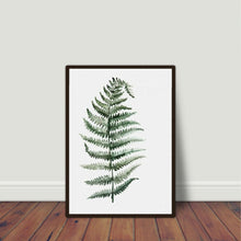 Load image into Gallery viewer, Watercolour Fern Plant Art