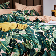 Load image into Gallery viewer, Pastel Palm Leaf Premium Egyptian Cotton Bedding Set