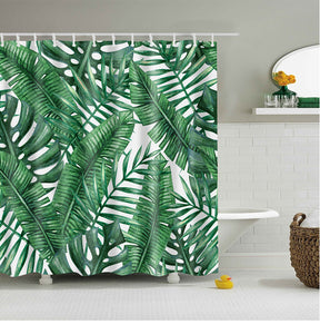 Tropical Mixed Leaves Shower Curtain