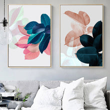 Load image into Gallery viewer, Soft Pastels Leaf Wall Prints