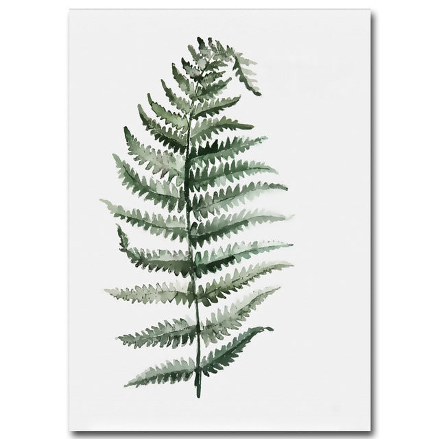 Watercolour Fern Plant Art - Modern Urban Jungle
