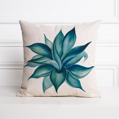 Blue Agave Cactus Cushion Cover - Modern Urban Jungle