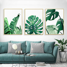 "Load image into Gallery viewer, ""Welcome 2D Jungle"" Leaf Wall Art - Modern Urban Jungle"