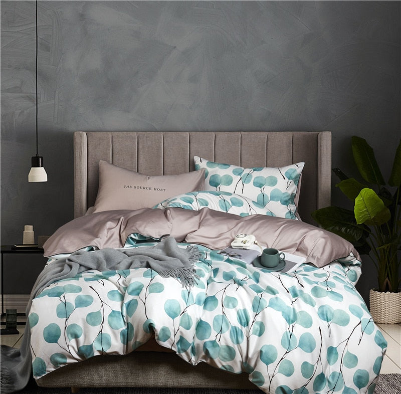 Pale Eucalyptus Silky Bedding Set