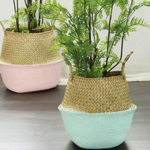 Dipped Woven Basket Sky Blue - Modern Urban Jungle
