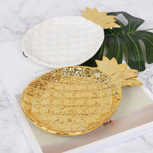 Load image into Gallery viewer, Golden Pineapple and Leaf Jewellery Tray