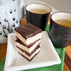 Peppermint slice and tea