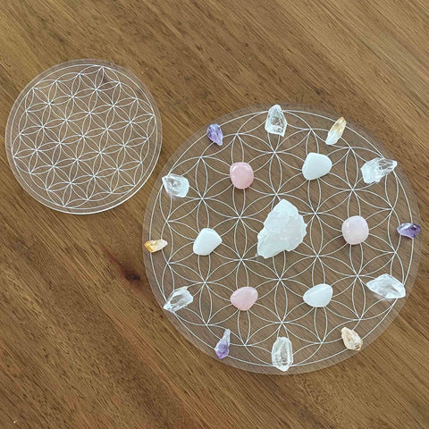 Flower of Life Crystal Grid - Acrylic