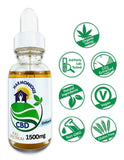 Hemp CBD Oil Full Spectrum/Flower Extract 1500mg (Unflavored)