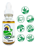 Hemp CBD Oil Full Spectrum/Flower Extract 500mg(Mint Chocolate flavor)