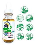 Hemp CBD Oil Full Spectrum/Flower Extract 500mg (Unflavored) For Pets!