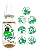 Hemp CBD Oil Full Spectrum/Flower Extract 750mg (Mint Chocolate)