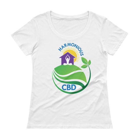 Harmonious CBD Ladies' Scoopneck T-Shirts