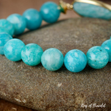 Bracelet en Amazonite Naturelle 10MM - King of Bracelet