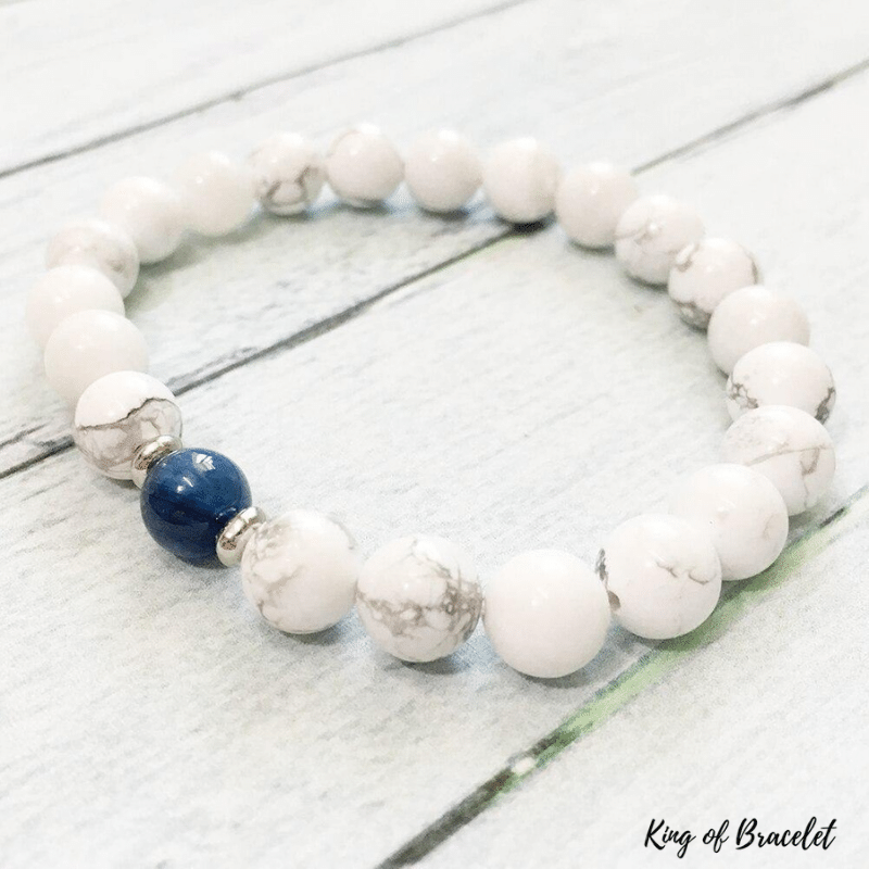 Bracelet en Howlite et Kyanite - King of Bracelet