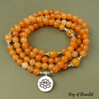 Bracelet Mala en Aventurine Orange - King of Bracelet