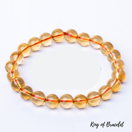 Bracelet en Citrine Naturelle - King of Bracelet