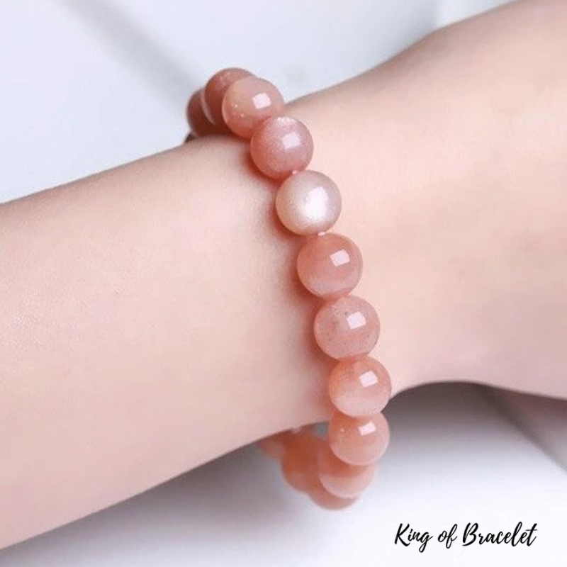 Bracelet en Pierre de Lune Orange - King of Bracelet