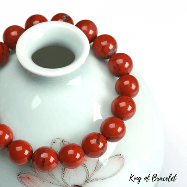 Bracelet en Jaspe Rouge - King of Bracelet