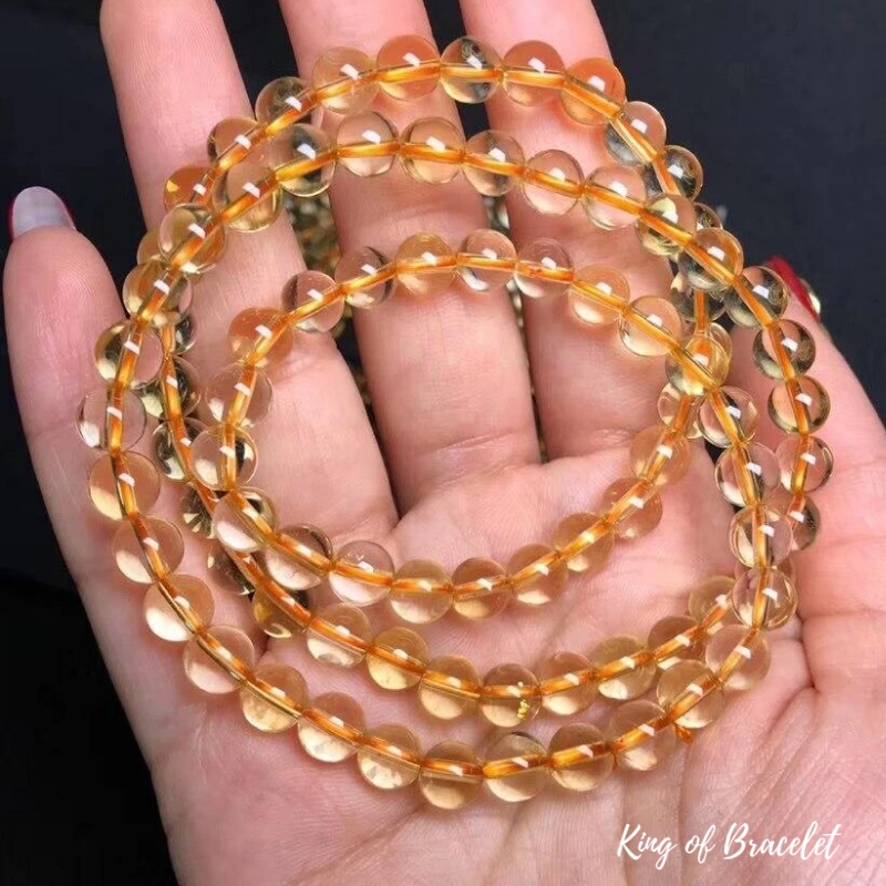 Bracelet Mala en Citrine - King of Bracelet