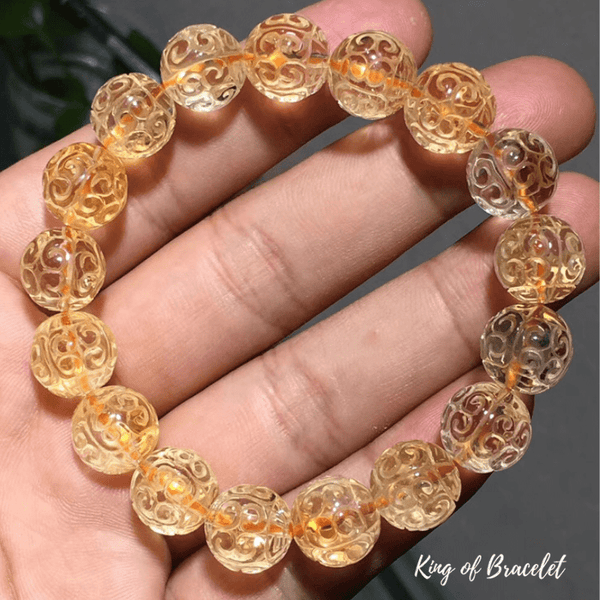 Bracelet Mala Tibétain en Citrine - King of Bracelet