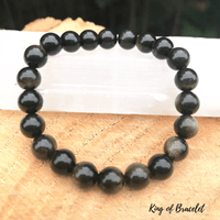 Bracelet en Obsidienne Dorée - King of Bracelet